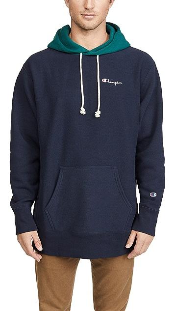 Champion Premium Reverse Weave Colorblock Hooded Sweatshirt