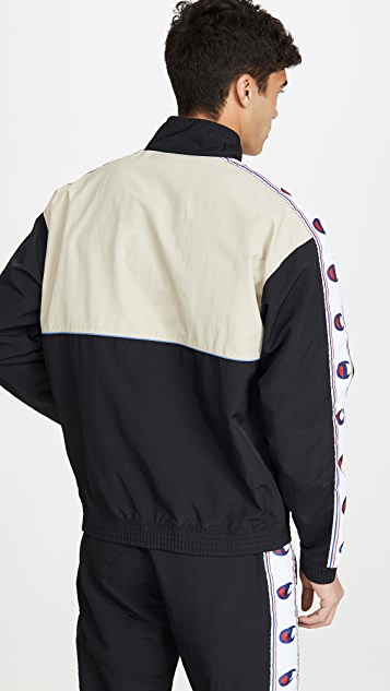 Champion Premium Reverse Weave Full Zip Track Jacket With Taping