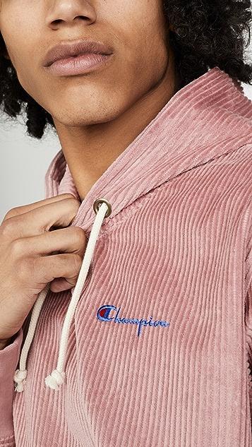 Champion Premium Reverse Weave Corduroy Hooded Sweatshirt