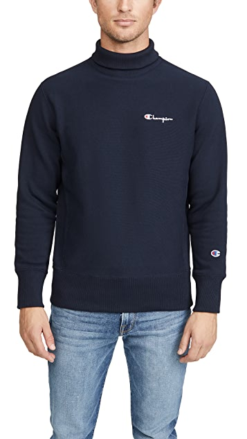 Champion Premium Reverse Weave Small Script High Neck Sweatshirt