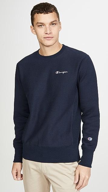Champion Premium Reverse Weave Small Script Logo Crew Neck Sweatshirt