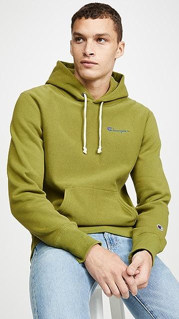 Champion Premium Reverse Weave Small Script Logo Hooded Sweatshirt