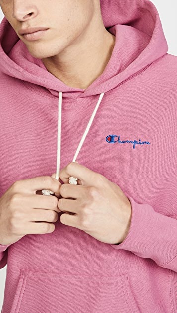 Champion Premium Reverse Weave Small Script Logo Hooded Sweatshirt