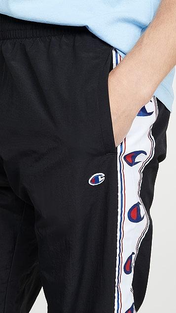 Champion Premium Reverse Weave Taped Logo Track Pants