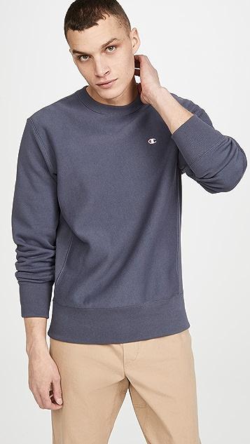 Champion Premium Reverse Weave Small Logo Crew Neck Sweatshirt