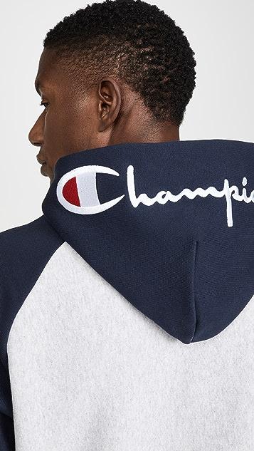 Champion Premium Reverse Weave Script Two Tone Hoodie