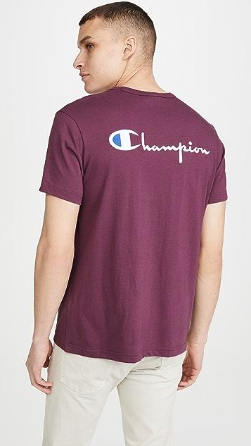 Champion Premium Reverse Weave Big Script Logo T-Shirt