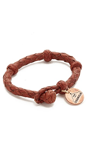 Chamula Round Woven Leather Bracelet
