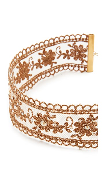 Chan Luu Metallic Choker Necklace
