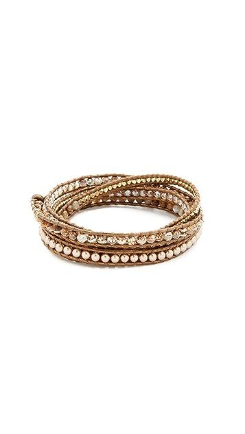 Chan Luu 3 Wrap Choker Necklace