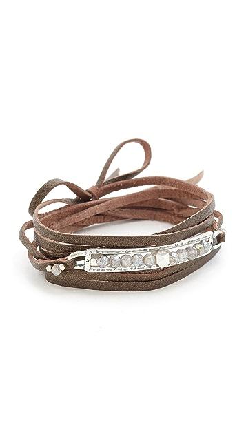 Chan Luu Raw Cut Leather Wrap Bracelet
