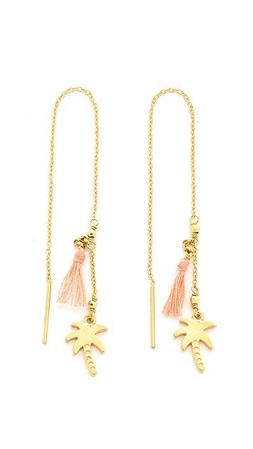 Chan Luu Thread Thru Palm Tree Earrings