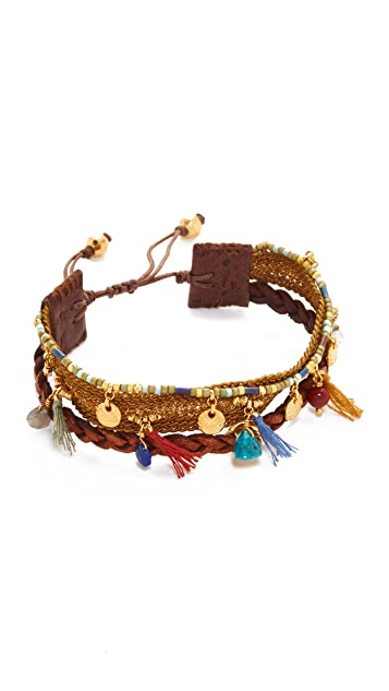 Chan Luu Braided Leather Bracelet