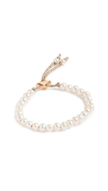 Chan Luu White Freshwater Cultured Pearl Adjustable Bracelet