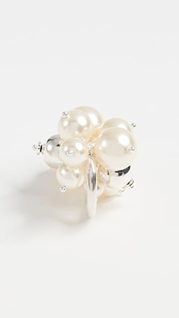 Chan Luu Cream Swarovski Imitation Pearl Ring