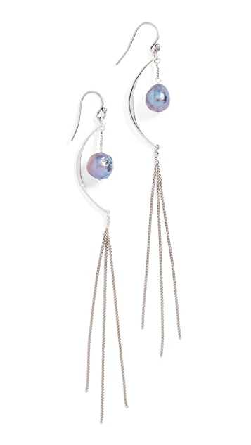 Chan Luu Freshwater Cultured Pearl Chain Earrings