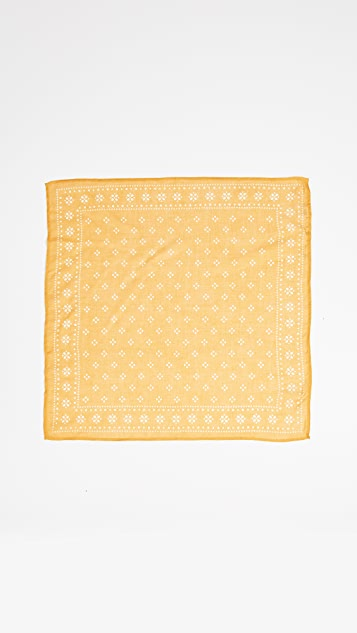 Chan Luu Шейный платок с принтом в стиле банданы и винтажным рисунком в горошек