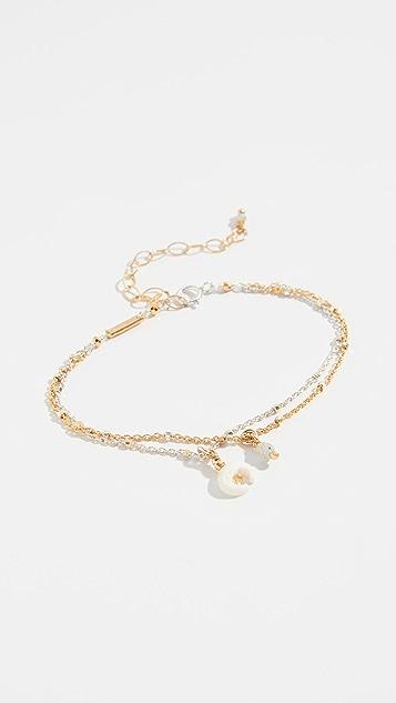 Chan Luu Mix Layered Horn Charm Bracelet