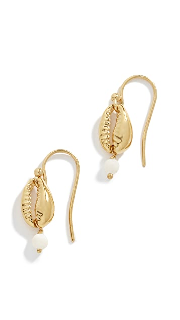 Chan Luu Cowry Shell & Mother of Pearl Drop Earrings
