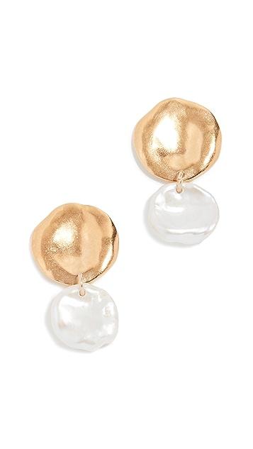 Chan Luu Freshwater Cultured Pearl Double Drop Earrings