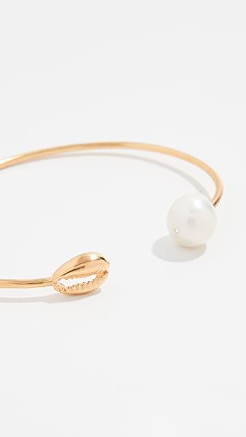 Chan Luu Bangle Bracelet with Pearl And Shell