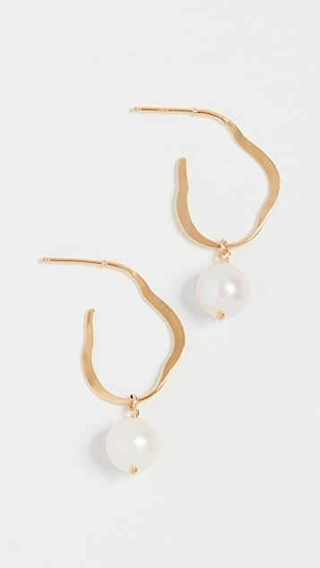 Chan Luu Hoop Earrings with Freshwater Cultured Pearls