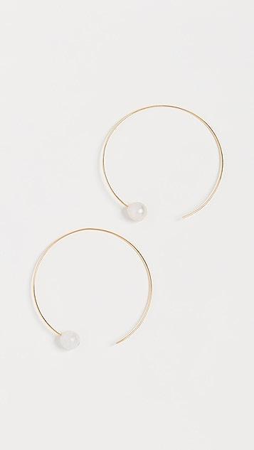 Chan Luu Hoop Earrings with Keshi Pearls