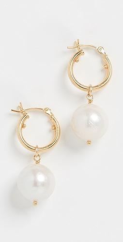 Chan Luu - White Pearl Earrings