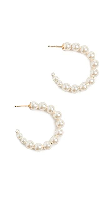 Chan Luu 奶白珍珠耳环