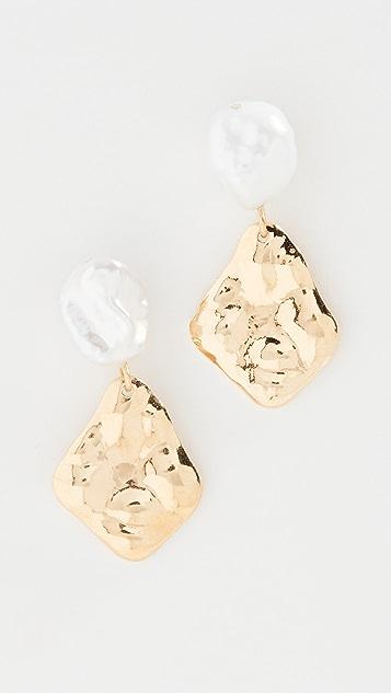 Chan Luu Pearl Drop Shell Earrings
