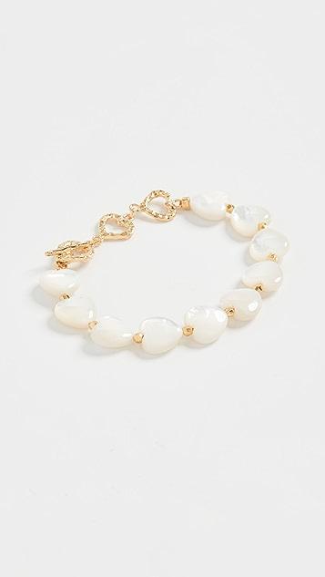Chan Luu 白色心形手链