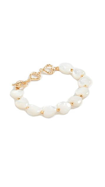 Chan Luu White Heart Bracelet