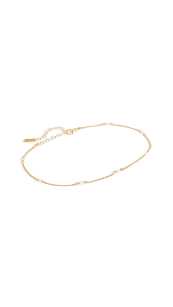 Chan Luu 白色珍珠&金踝链