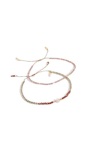 Chan Luu 红色混合手链