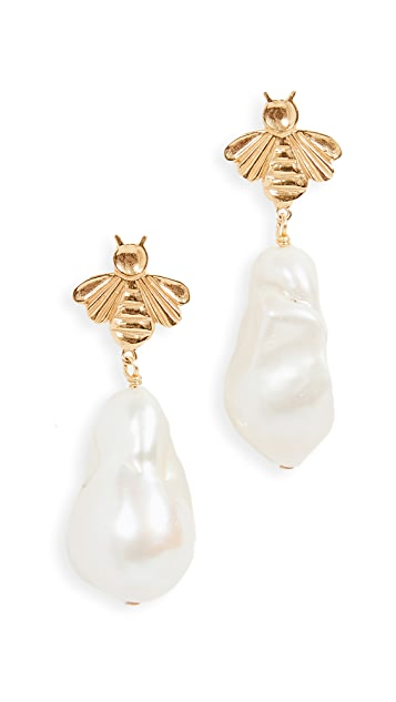 Chan Luu Natural White Pearl Drop Earrings