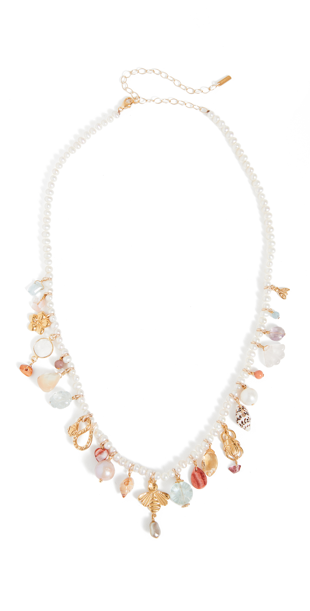 White Pearl Mix Necklace
