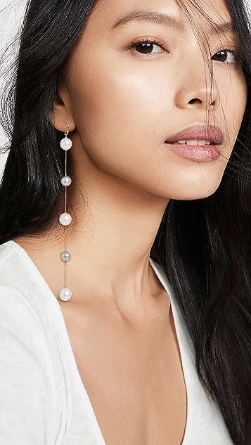 Chan Luu Grey Mix Drop Earrings