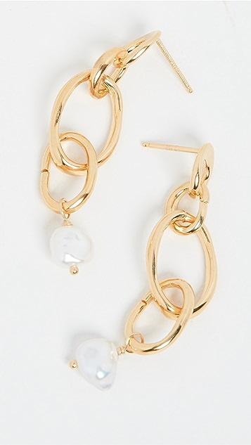 Chan Luu 链式珍珠耳环