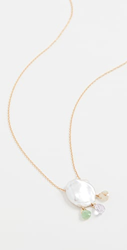Chan Luu - Cultured Pearl and Gem Neckline