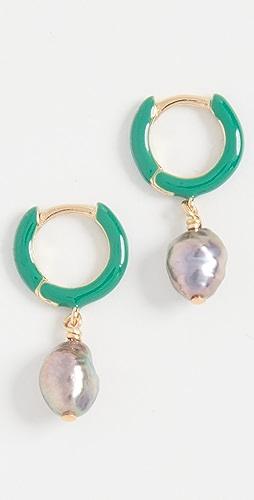 Chan Luu - Green Huggie Earrings