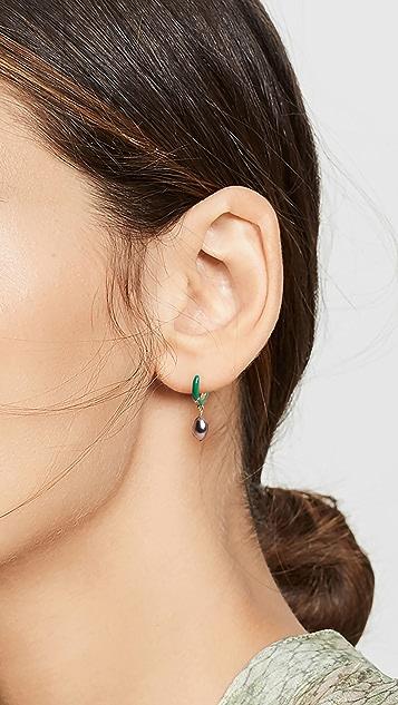 Chan Luu 绿色贴耳耳环