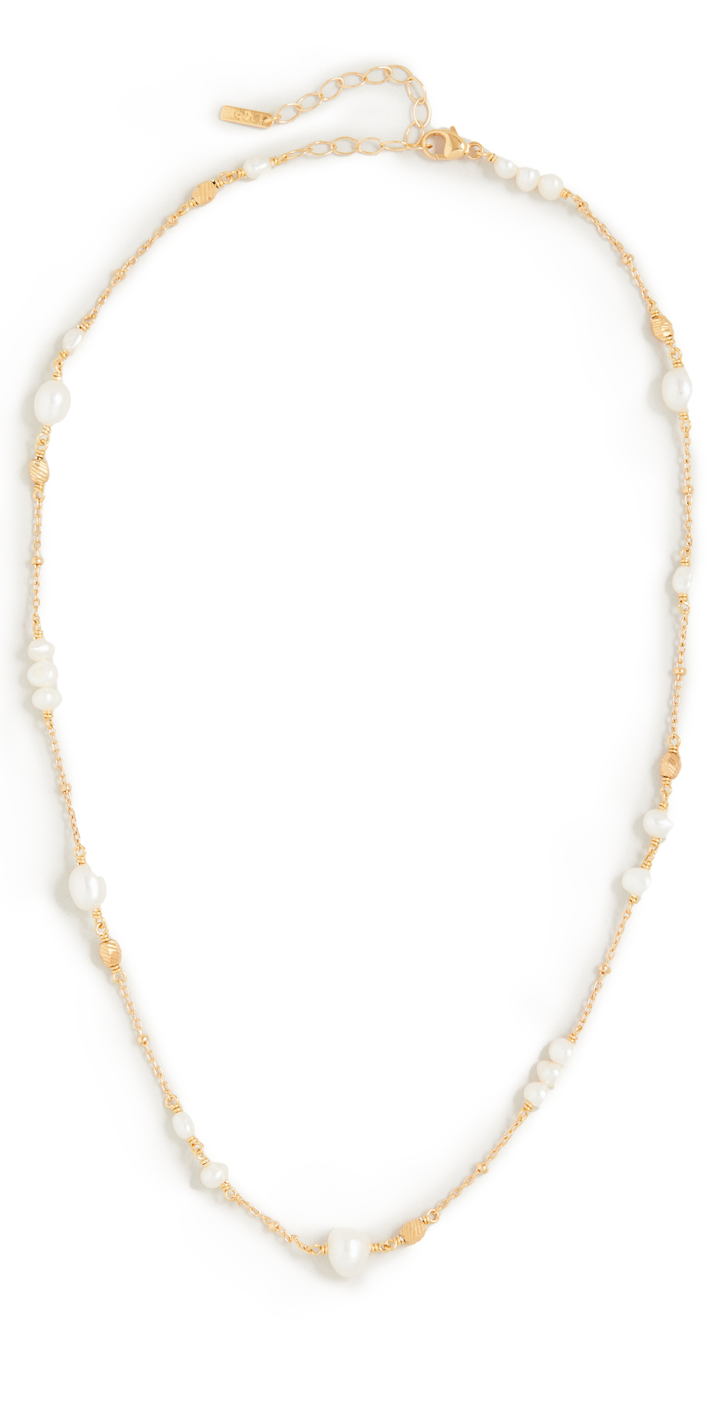 Pearl and Gold Ball Necklace