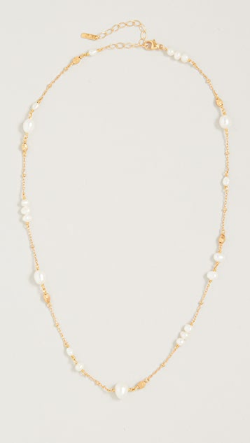 Chan Luu Pearl and Gold Ball Necklace