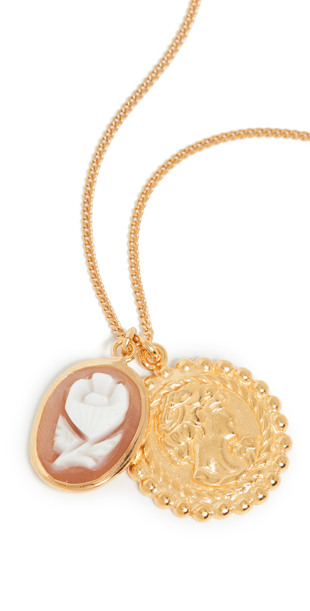 Cameo and Medallion Necklace