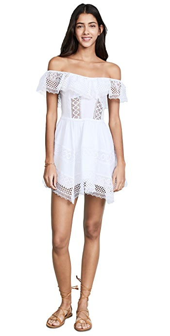 Charo Ruiz Vaiana Off Shoulder Dress - White