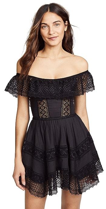 Charo Ruiz Vaiana Off Shoulder Dress - Black