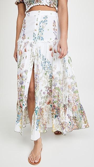 Charo Ruiz Ann Botanic Long Skirt
