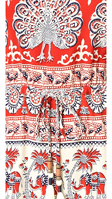 Chaser Tapestry Drawstring Mini Dress