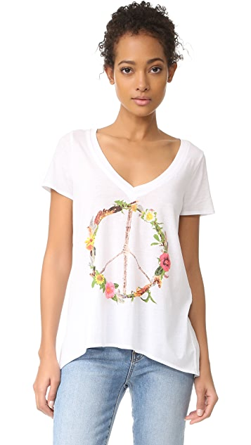 Chaser Peace Wreath Tee