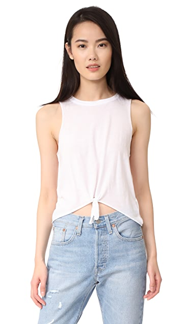 Chaser Tie Front Muscle Tank